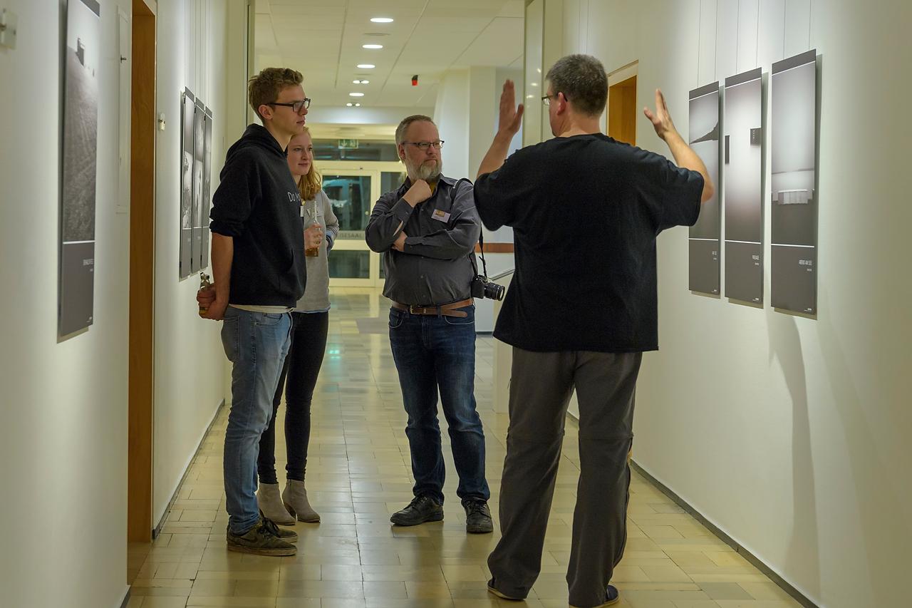 ADAGIO: Die Werke von Bernd Walz regten zu einem lebendigen Austausch an.