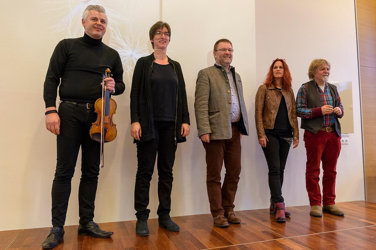 Fotografien, Poesie und Musik floßen zusammen: Arthur Mildner, Ulrike Kehrer, Willi Rolfes, Conny Sandvoß und Heinrich Dickerhoff