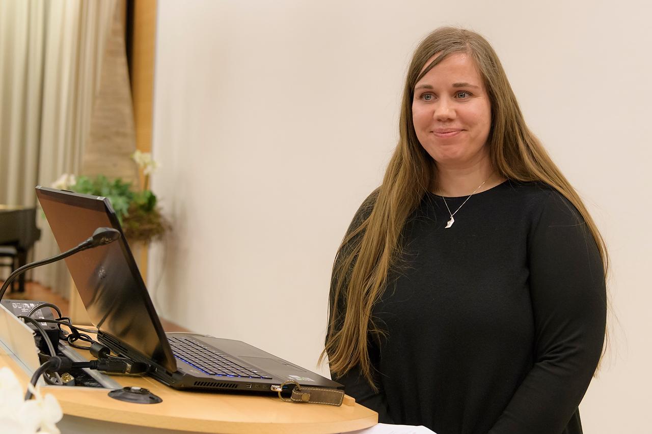 Mit langem Applaus wurde Sandra Bartochas Multivisionsschau bedacht.